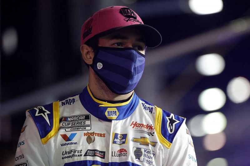 Chase Elliott during the NASCAR Cup Series Bluegreen Vacations Duel #2 at Daytona. Photo: Getty Images