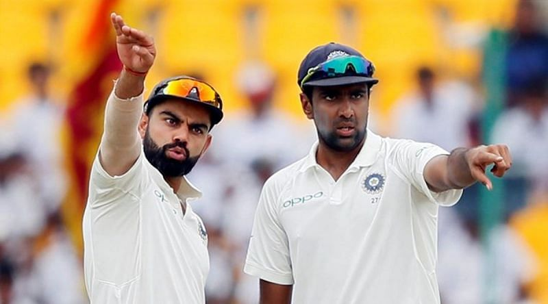 Virat Kohli (left) and Ravichandran Ashwin (right) combined to burn another review for India.