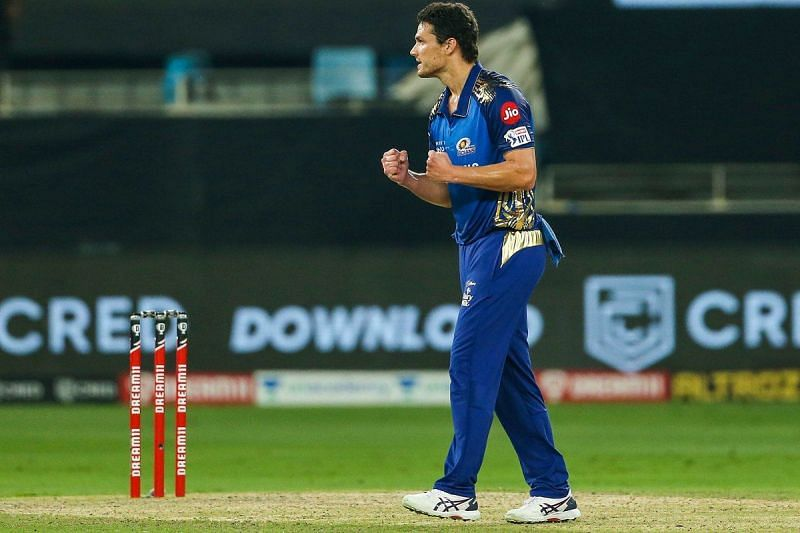 Nathan Coulter-Nile in action for Mumbai Indians