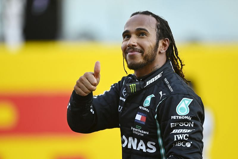 Hamilton takes yet another victory in 2020. (Photo by Rudy Carezzevoli/Getty Images)