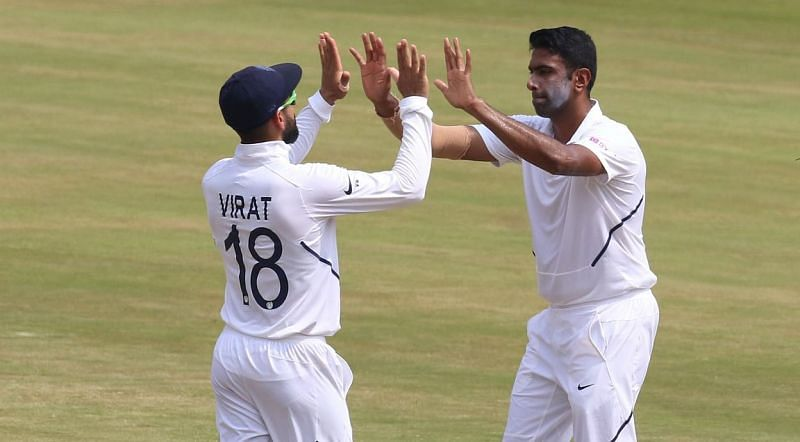 Virat Kohli and R Ashwin celebrate a wicket against England (Credits: The Quint)