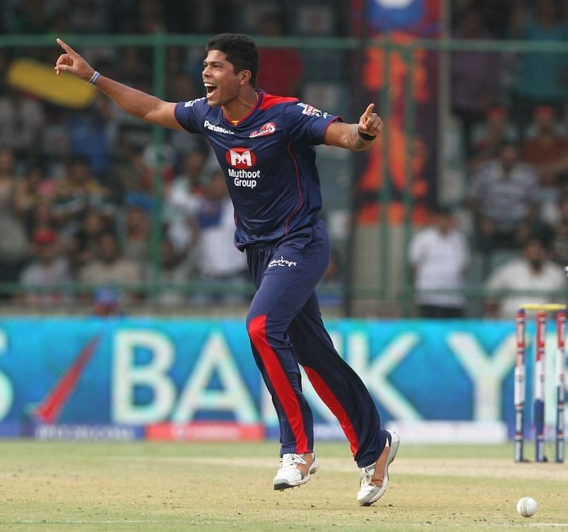 Umesh Yadav during his first stint with Delhi in the IPL