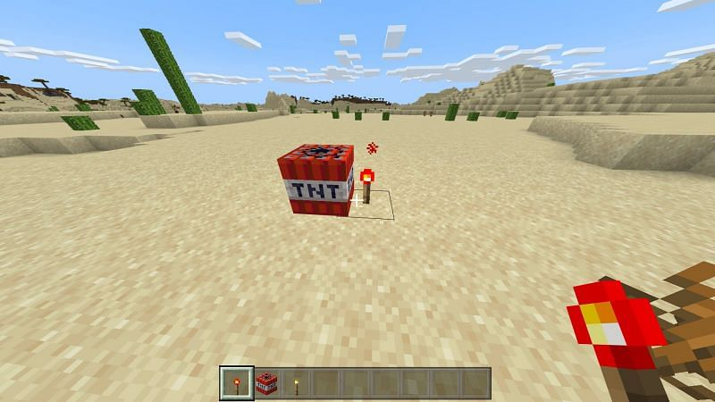 Activating TNT in Minecraft