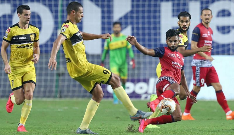 Hyderabad FC were handed an easy victory after looking average in the first-half. Courtesy: ISL