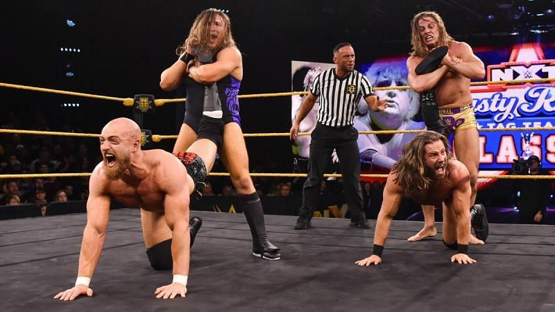 The Broserweights and The Grizzled Young Veterans in WWE