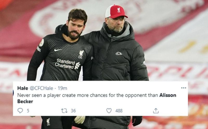 Alisson Becker had a horrible night