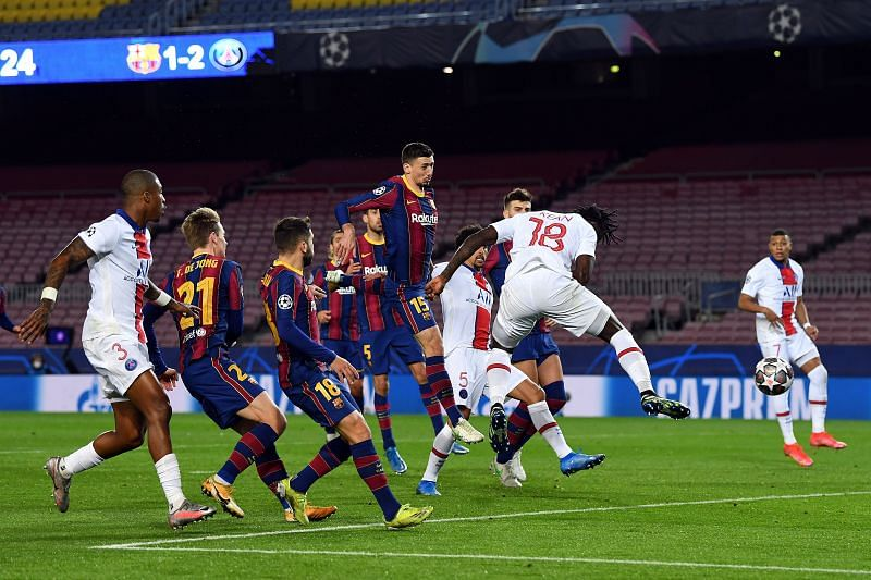 Barcelona struggled against Paris Saint-Germain