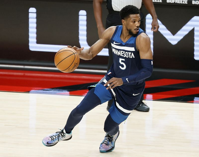 Malik Beasley #5 of the Minnesota Timberwolves