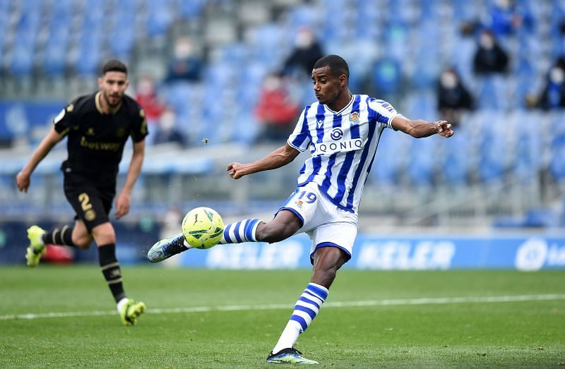 Alexander Isak in action for Real Sociedad