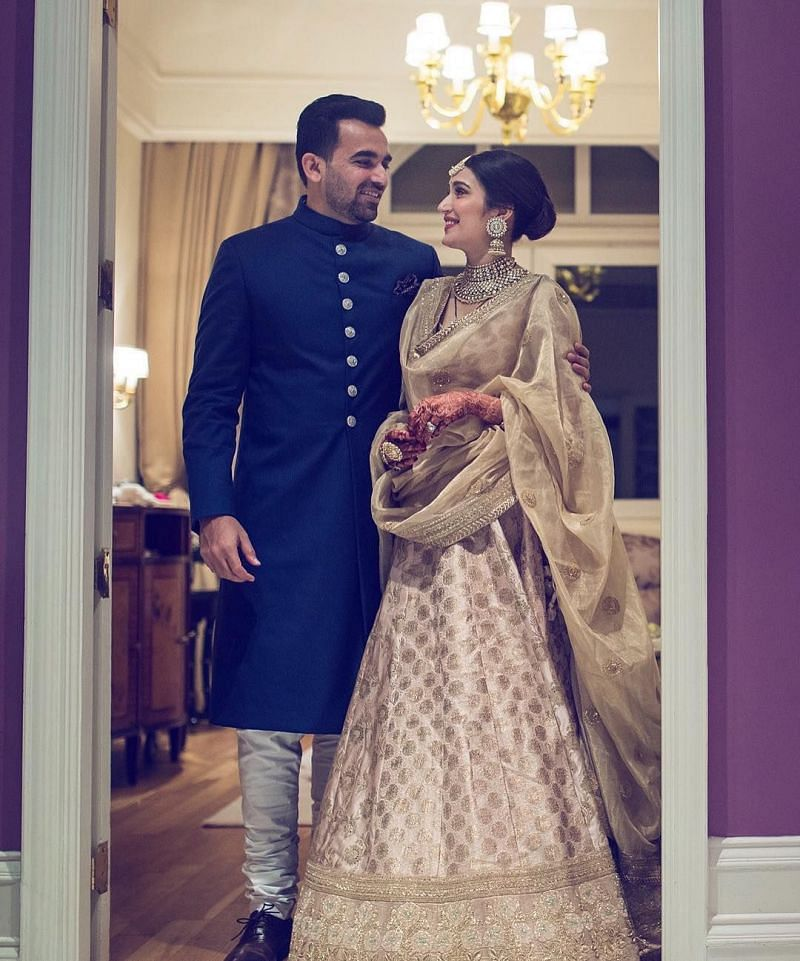 Zaheer Khan and his wife