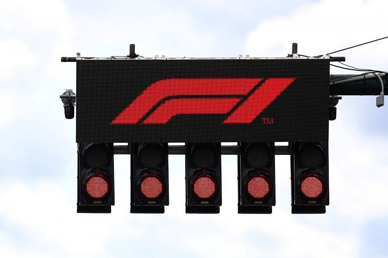Five red lights start each Grand Prix. (Photo by Mark Thompson/Getty Images)