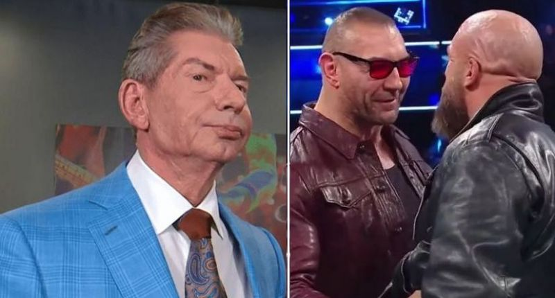 Vince McMahon, Batista, and Triple H