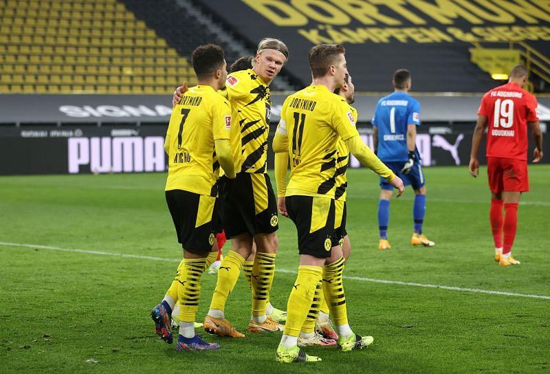 Erling Haaland and Jadon Sancho have been in good form for Borussia Dortmund