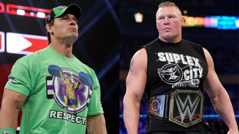 पूर्व WWE चैंपियन जॉन सीना और ब्रॉक लैसनर