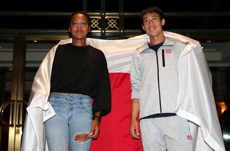 Kei Nishikori and Naomi Osaka at the 2018 US Open in New York City