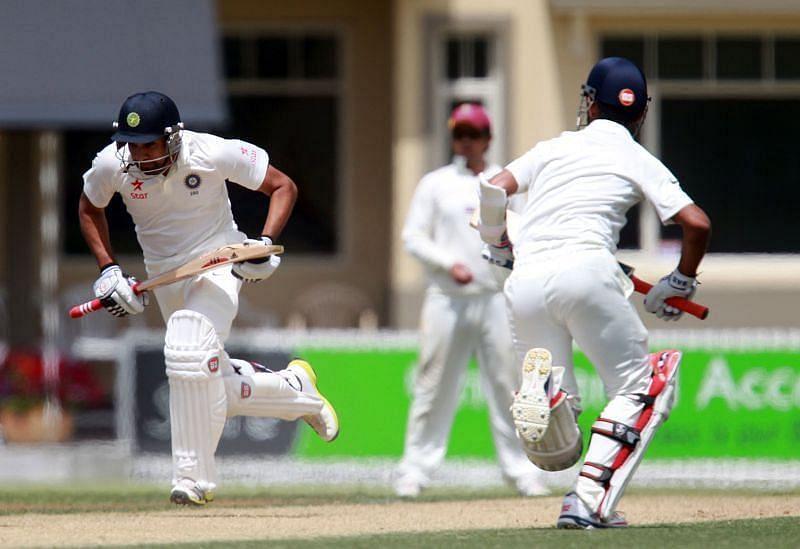 Rohit Sharma strung together a 162-run partnership with Ajinkya Rahane for the fourth wicket.