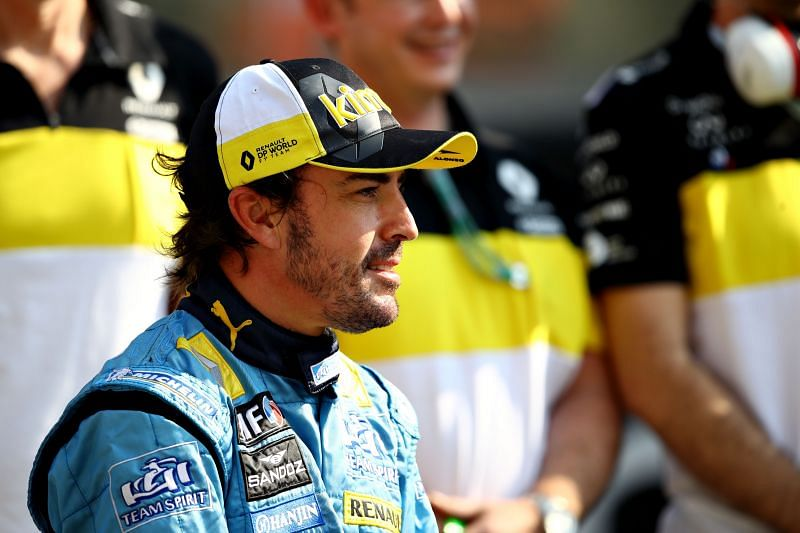 Fernando Alonso suffered a crash while cycling in Switzerland. Photo: Lennon/Getty Images
