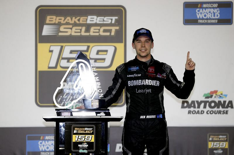 Ben Rhodes won the BrakeBest Brake Pads 159 for his second win in as many races this year. (Photo by Chris Graythen/Getty Images)