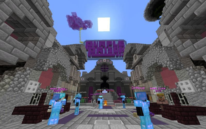 Purple Prison is one of the best Minecraft lucky block server.s