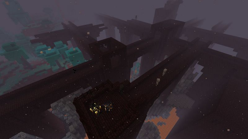 The inside of a Nether Fortress in Minecraft (Image via Minecraft)