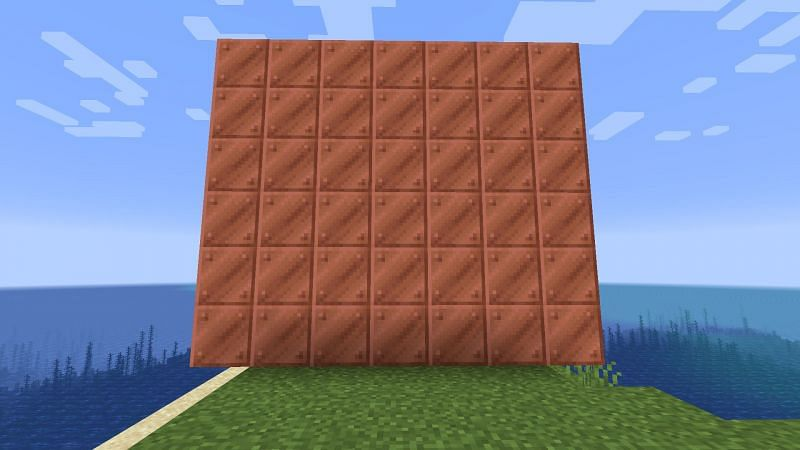 A copper block would look very nice in a factory or warehouse build (Image via Minecraft)