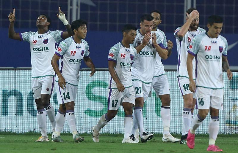 Diego Mauricio scored one more goal in an impressive Odisha FC win. Courtesy: ISL