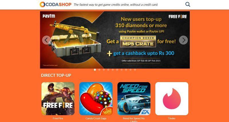 Free Fire के विकल्प पर क्लिक करें