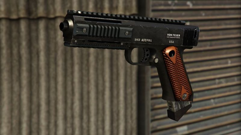 The AP Pistol is one of the most potent guns in GTA Online (Image via GTA Wiki)