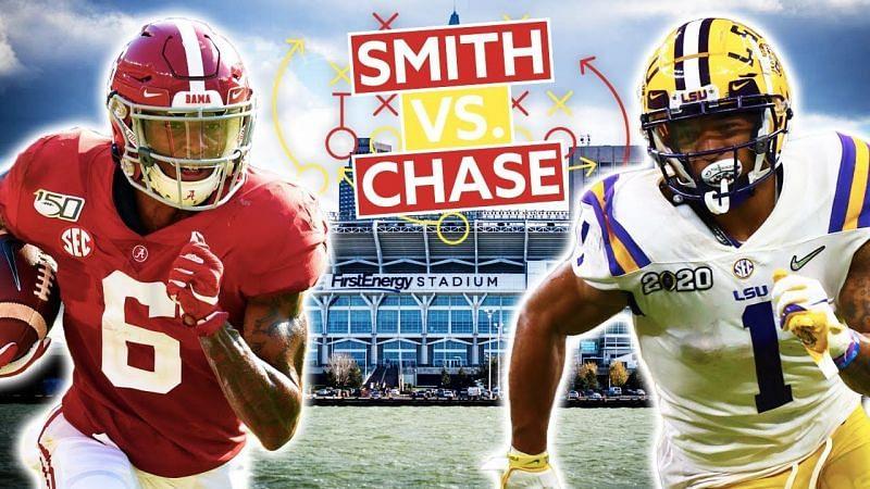 Alabama WR Devonta Smith vs LSU WR Ja