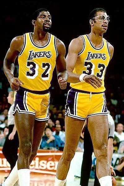 Magic Johnson and Kareem