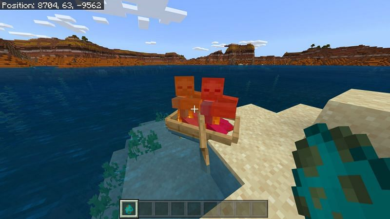 Mobs in Minecraft boat