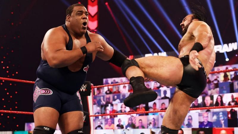 Keith Lee and Drew McIntyre on WWE RAW
