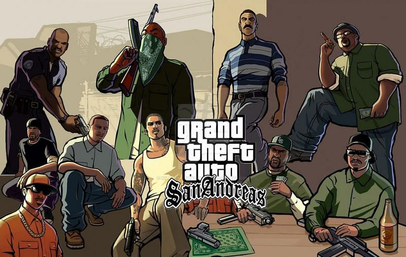 GTA San Andreas is one of the most popular titles in the GTA series (Image via DeviantArt)