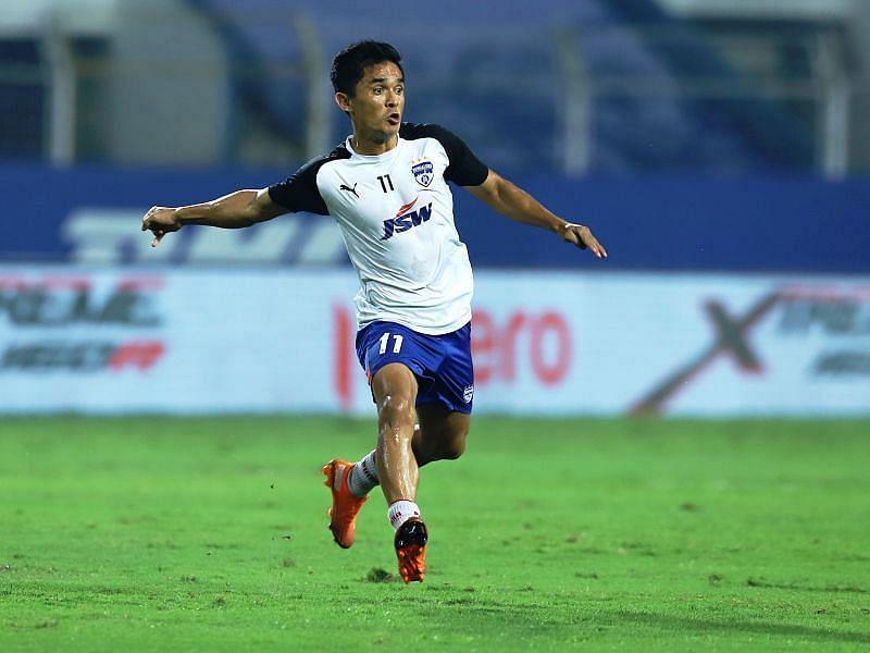 Sunil Chhetri has scored five goals for the Bengaluru FC side in this ISL campaign (Courtesy - ISL)
