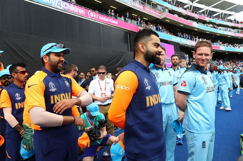 England & India getting ready for an encounter.