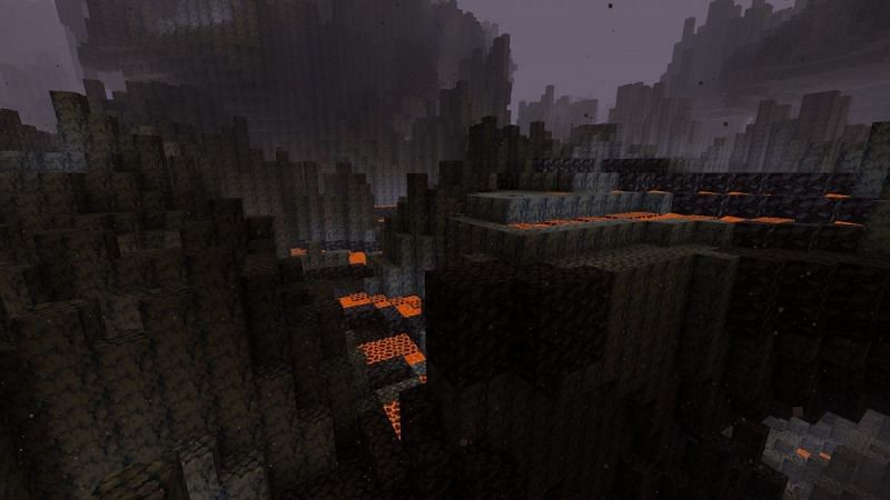 Blackstone can be made into slabs and stairs (Image via Minecraft)