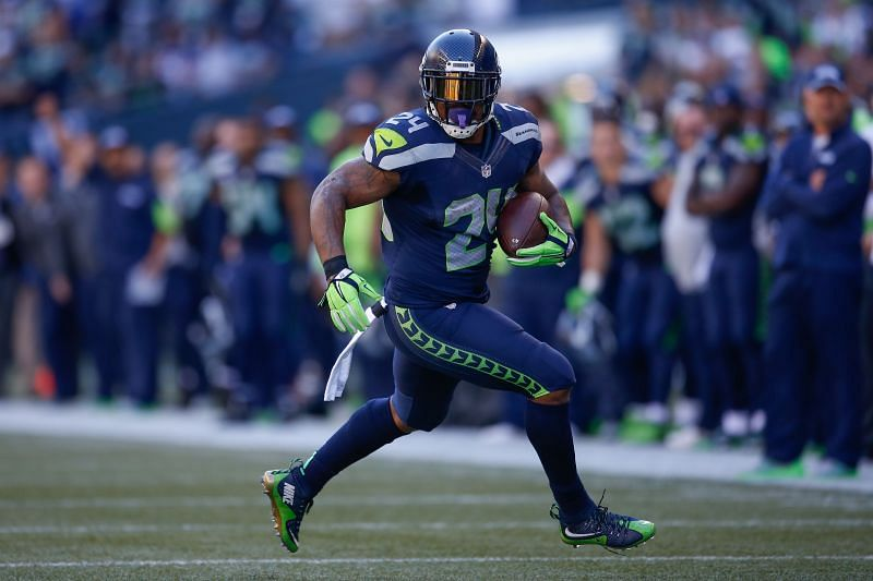 Marshawn Lynch, with the Seattle Seahawks