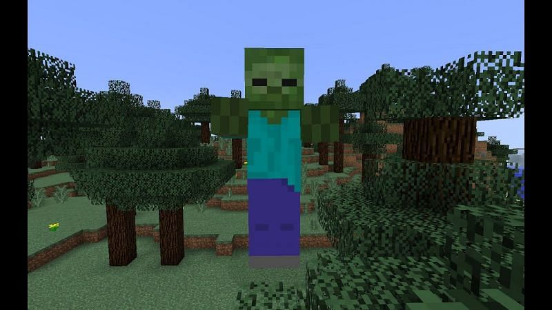 A giant in Minecraft