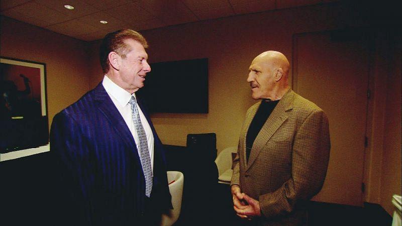 Vince McMahon and Bruno Sammartino