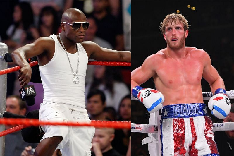 Floyd Mayweather (L) will fight Logan Paul (R) in an exhibition fight