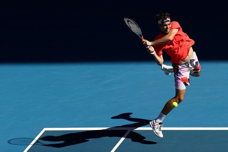 Taylor Fritz has made it to the last 32 at the Australian Open three years in a row