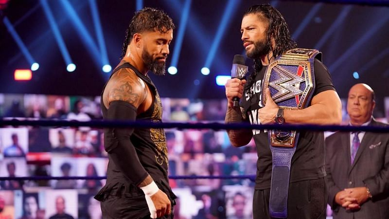 Jey Uso and Roman Reigns.