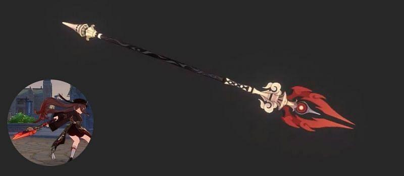 Hu Tao's preferred polearm, the Staff of Homa (Image via Persin Impact, Twitter)