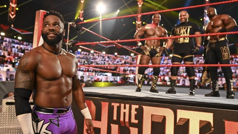 Cedric Alexander and The Hurt Business on WWE RAW