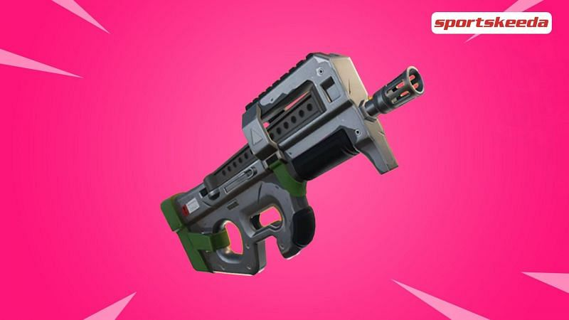 The upcoming exotic Frozen SMG in Fortnite.