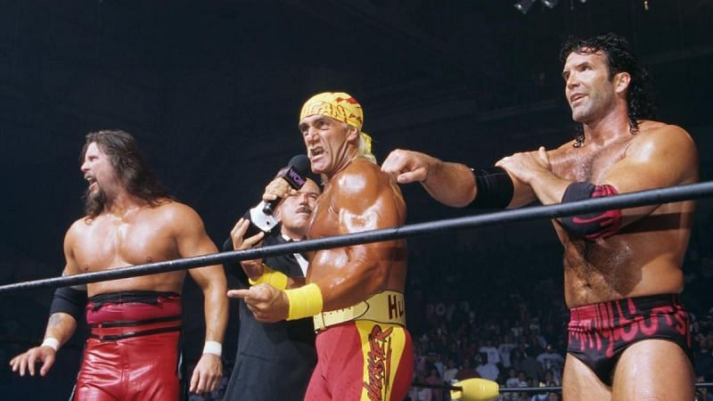 Hulk Hogan aligned with Kevin Nash and Scott Hall in WCW