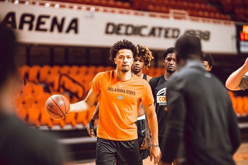 Cade Cunningham #2 of the Oklahoma State Cowboys