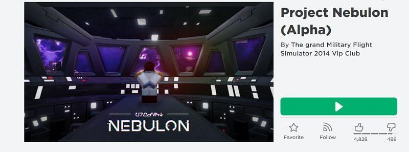 The Project Nebulon game on Roblox (Image via Roblox.com)