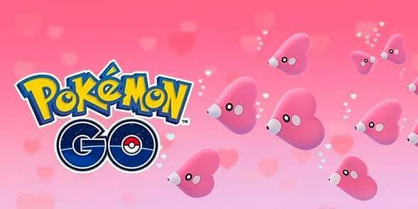 The spotlight hour that went live yesterday was the perfect time for Pokemon GO players to catch a shiny Luvdisc (Image via Niantic)