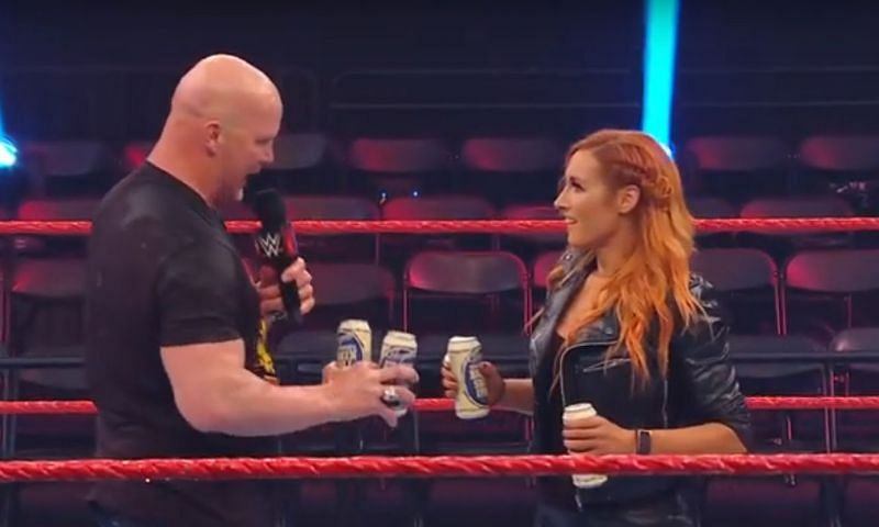 """""""Stone Cold"""" Steve Austin and The Man Becky Lynch"""